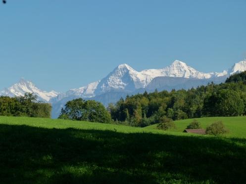 das Original: Eiger und Mönch im Berner Oberland