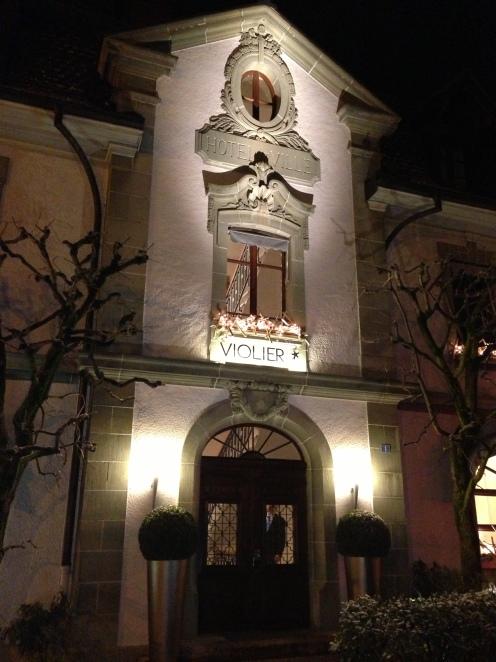 Eingang Hôtel de ville, Restaurant Benoît Violier, Crissier (bei Lausanne)