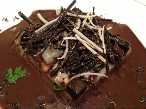 Kardy Gemüse mit schwarzen Trüffeln