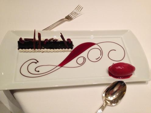 """Feuillantine Chocolat grand cru """"Araguani"""" et griottes sauvages de Fougerolles"""