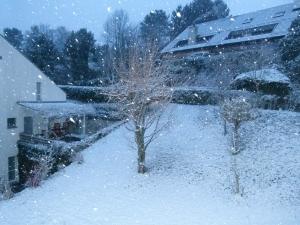 Schneetreiben vor dem Küchenfenster!