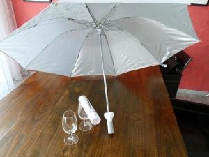 ... wird - thathaaa ... ein Schirm! :-)