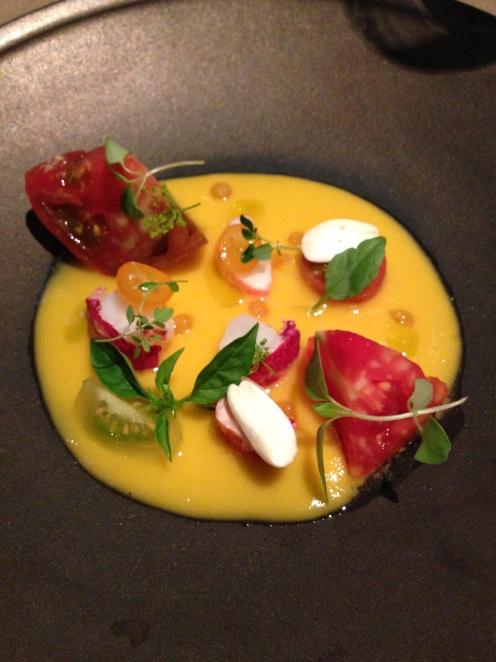 Hummer und Tomaten in Melonen Sauce