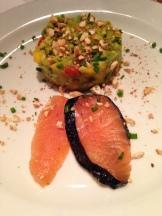 Avocado Mango Salat mit Lachs Variation