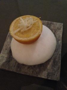 Gefüllte Zitrone mit Hafer Mousse und Sizilianischem Zitronensalat