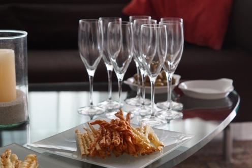 Sprüngli Flûtes und Champagner