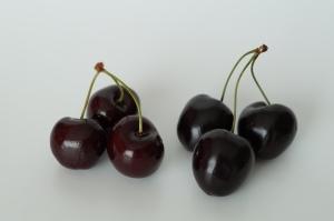 rote und schwarze Kirschen