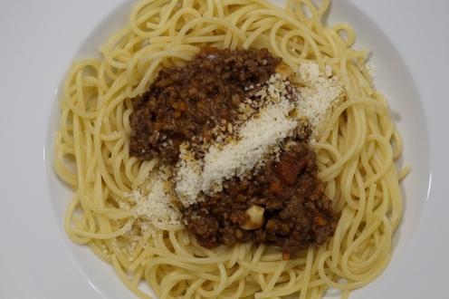 ... oder auf Spaghetti