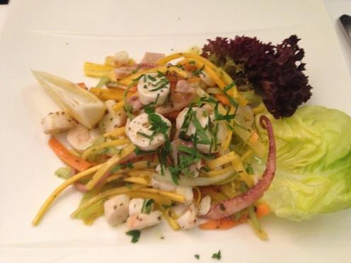 Tintenfisch Salat
