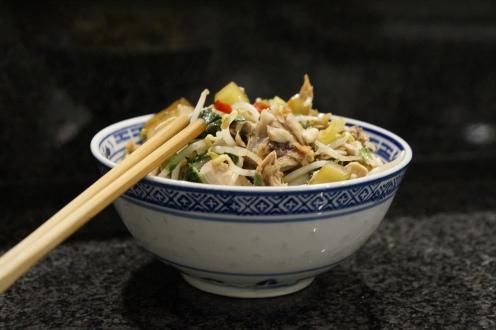 Geschnetzelte Pouletbrust mit asiatischem Gemüse