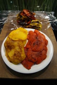 Peperoni, geröstet und geschält