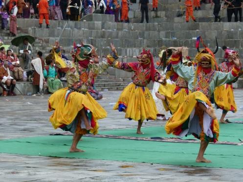 Maskentanz in Thimpu