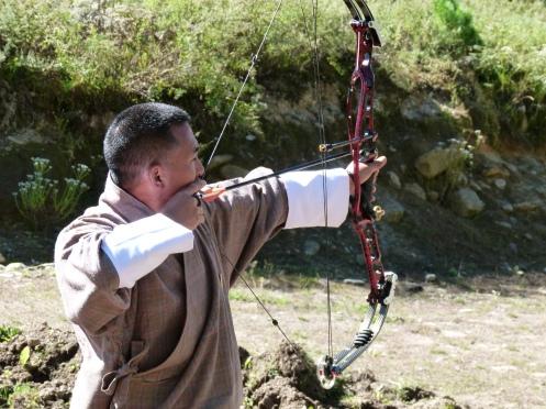 Archery (Bogenschiessen) ist Nationalsport - Distanz: 145 m !