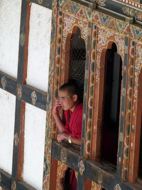 auch ein Mönch muss mal telefonieren