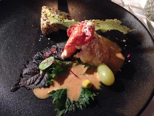 Kanadischer Hummer, Quinoa Tabouleh, Belper Knolle, Champagner