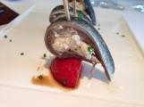 marinierte Sardinen mit Erdbeeren