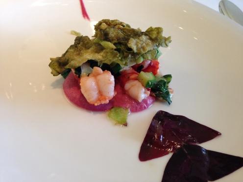 violette Scampi mit Krill
