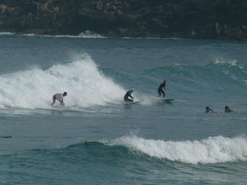Surfer in der Stadt