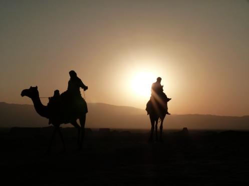 Sonnenuntergang in der Shahdad Wüste