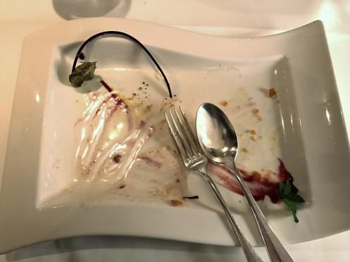 ooops - das war die Apfel Tarte Tatin mit Sauerrahm Eis
