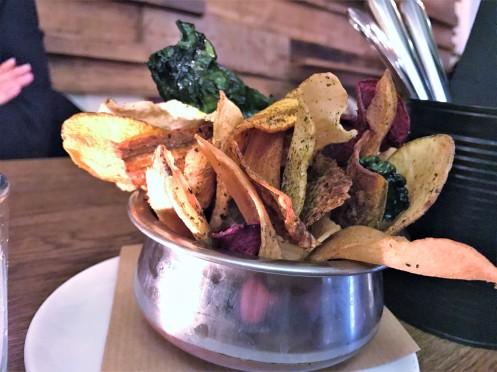 Gemüse Chips mit Nori Salz