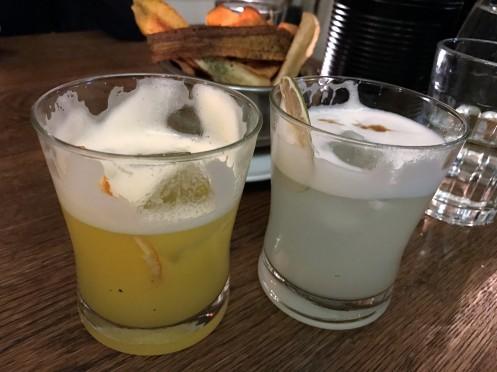 Pisco Sour und Mandarin Pisco Sour